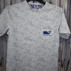 Vineyard Vines Reverse Print Tropical T-Shirt Tee